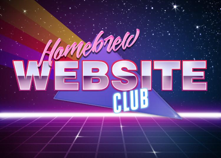 Homebrew Website Club retro graphics image